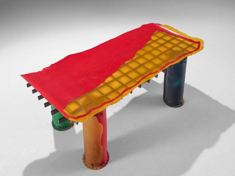 Gaetano Pesce for Zerodesigno 'Nobody's Perfect' Dining Table In Good Condition For Sale In Waalwijk, NL