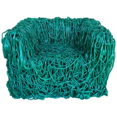 """Gaetano Pesce, Green Silicone Curb Chair """"Senza Fine"""" for Meritalia, 2010"""
