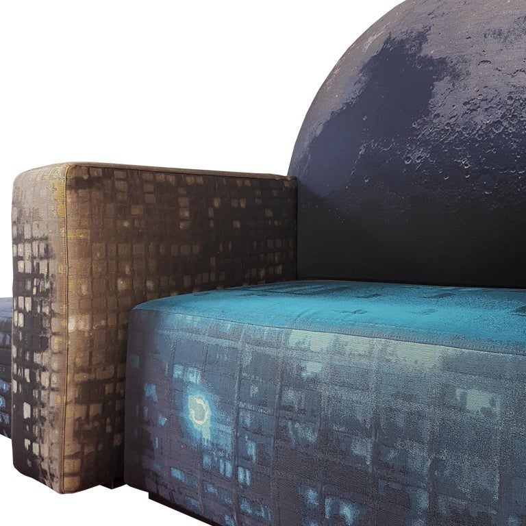 Other Gaetano Pesce Italian Cassina Limited Edition Sofa in Cotton and Linen Fabric For Sale