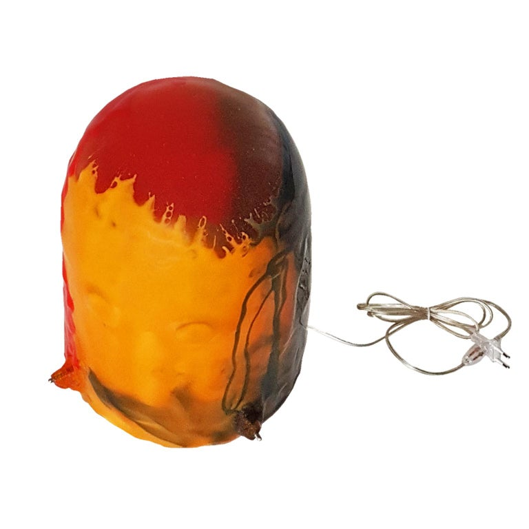 Gaetano Pesce Italian Floor Lamp, Table Lamp in Yellow, Red and Blue Resin, 2009 For Sale 9