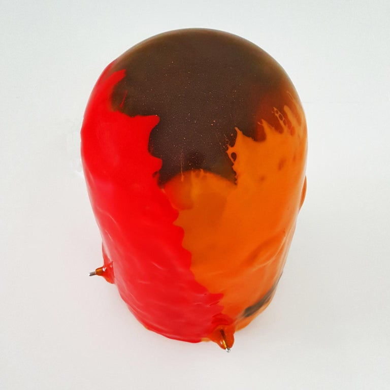 Gaetano Pesce Italian Floor Lamp, Table Lamp in Yellow, Red and Blue Resin, 2009 For Sale 11