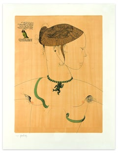 Dorothea and the Serpent - Original Etching by Gaetano Pompa - 1963