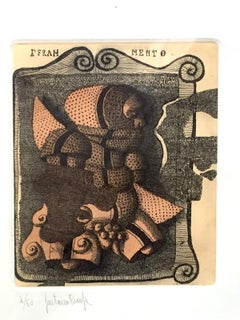 Fragment - Original Etching by Gaetano Pompa - 1980 ca.