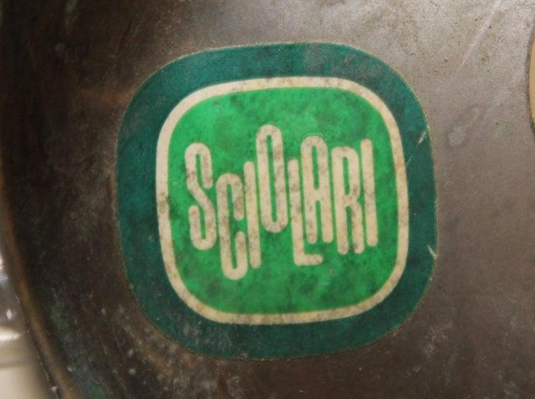 Gaetano Sciolari Brass and Chrome Chandelier For Sale 6