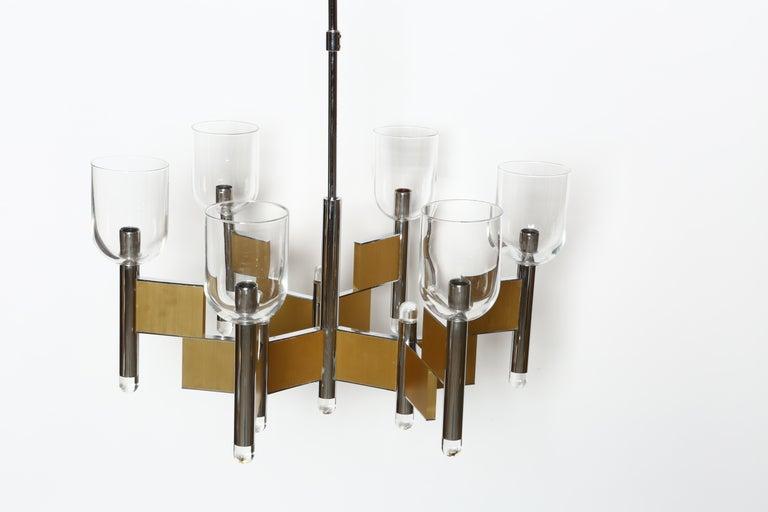 Glass Gaetano Sciolari Chandelier For Sale