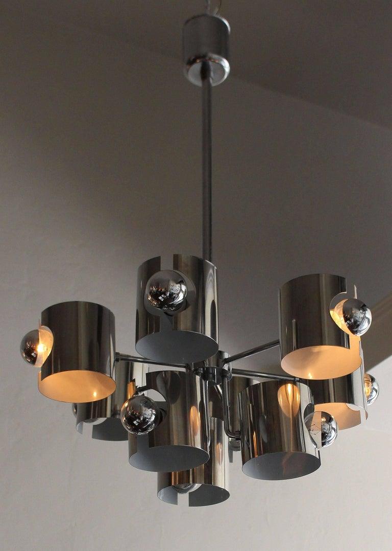 Italian midcentury chandelier by Gaetano Scioalri.
