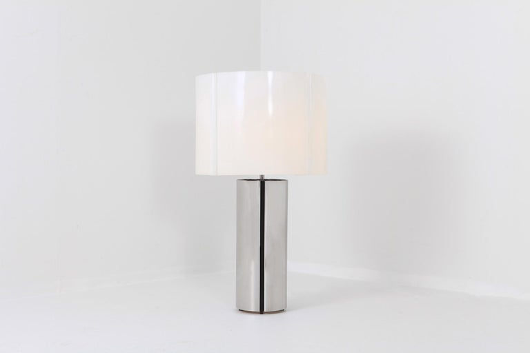Gaetano Sciolari Chrome Table Lamp 2