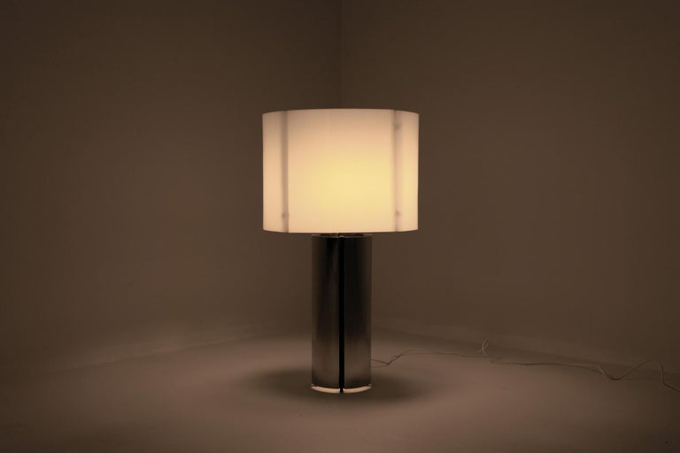 Gaetano Sciolari Chrome Table Lamp 6