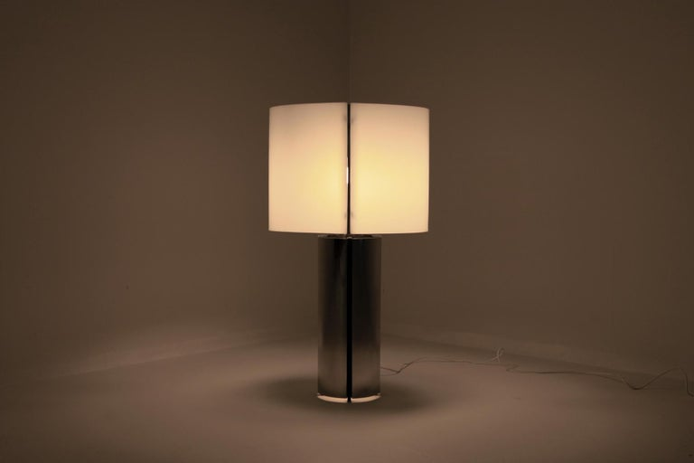 Gaetano Sciolari Chrome Table Lamp 7