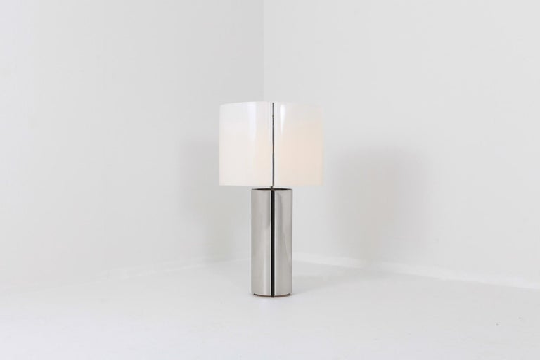 Gaetano Sciolari Chrome Table Lamp 8
