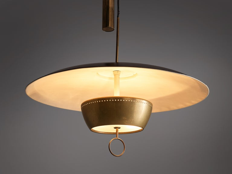 Metal Gaetano Sciolari for Stilnovo Ceiling Lamp 'A5011' For Sale