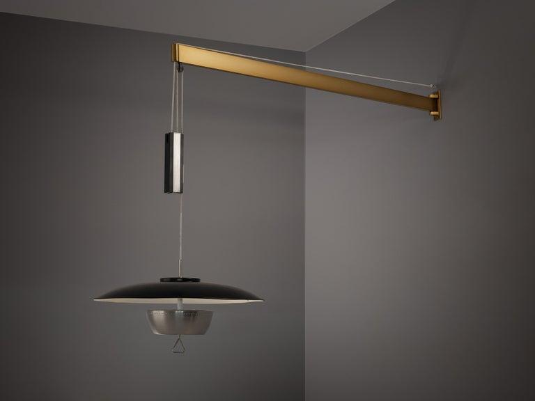 Italian Gaetano Sciolari for Stilnovo Wall-Mounted Pendant Lamp For Sale