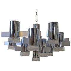 Italian Gaetano Sciolari Hanging Light Fixture