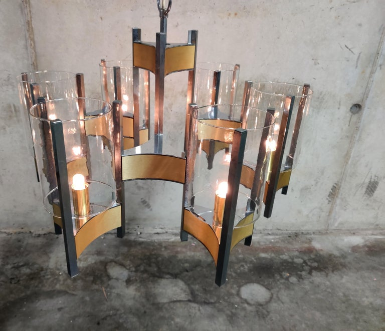 Gaetano Sciolari Hurrican Chandelier, 1970s For Sale 3