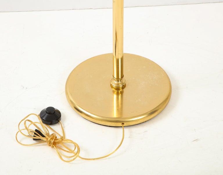 Gaetano Sciolari Iridescent and Gold Plated Standing Lamp For Sale 4