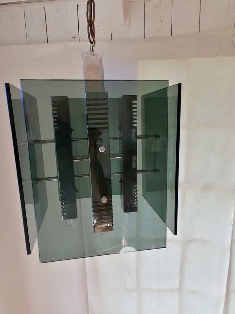 Italian Gaetano Sciolari Pendant Lamp Chandelier For Sale