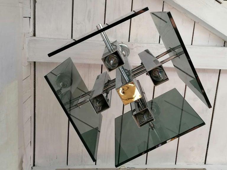 Gaetano Sciolari Pendant Lamp Chandelier For Sale 1