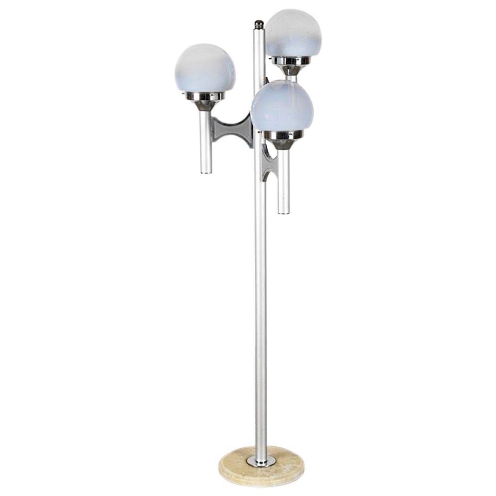 Gaetano Sciolari Polished Nickel Floor Lamp