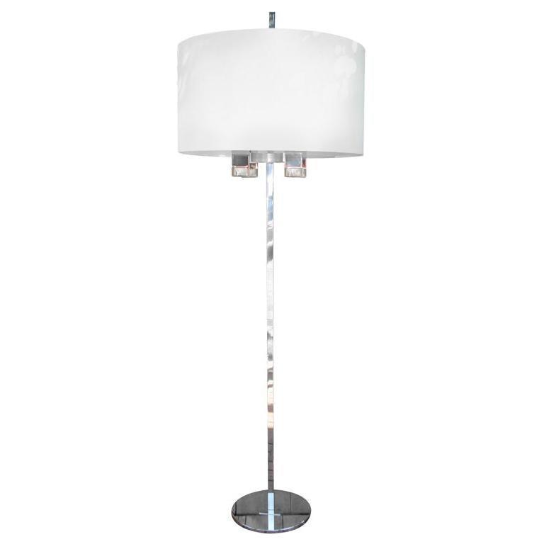 Gaetano Sciolari Rare Floor Lamp 'SIGNED'