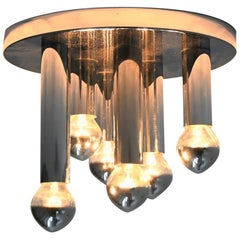 Gaetano Sciolari Small Flushmount Ceiling Lamp Boulanger, Italy, 1960