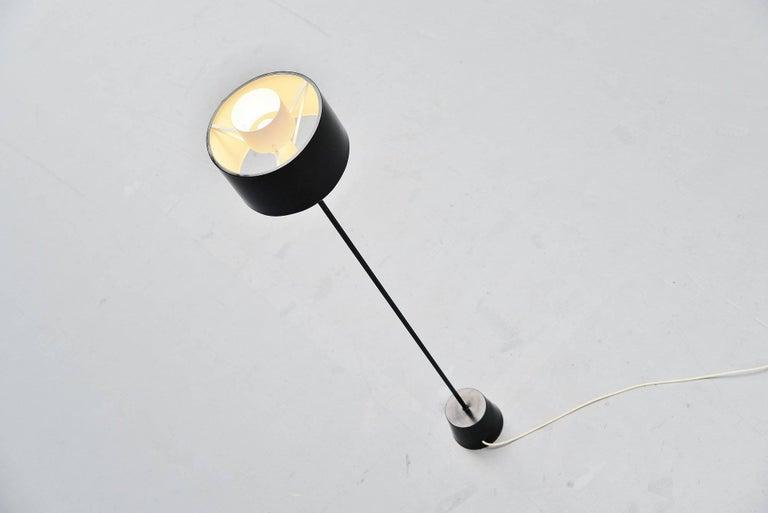 Cold-Painted Gaetano Sciolari Stilnovo Floor Lamp, Italy, 1954 For Sale