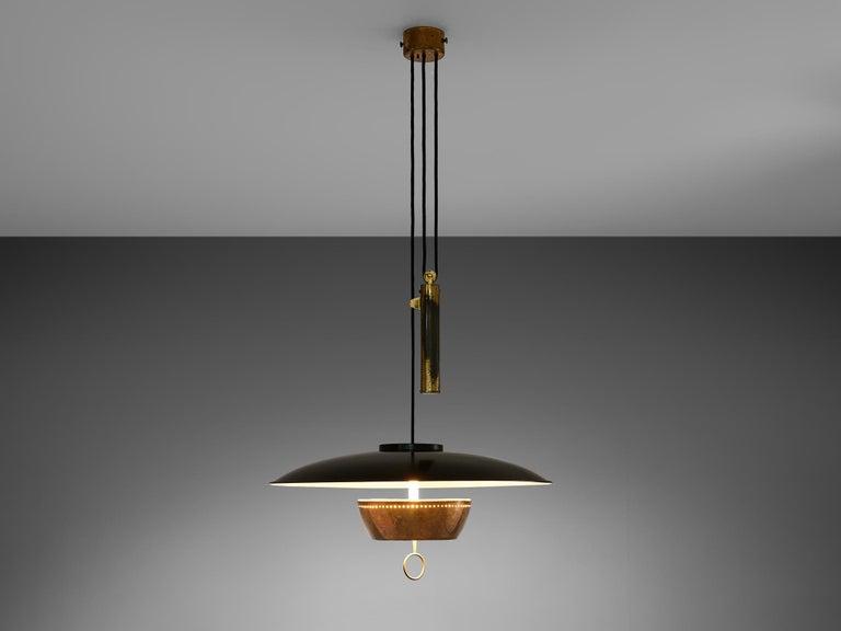 Mid-Century Modern Gaetano Scolari for Stilnovo Ceiling Lamp A5011 For Sale