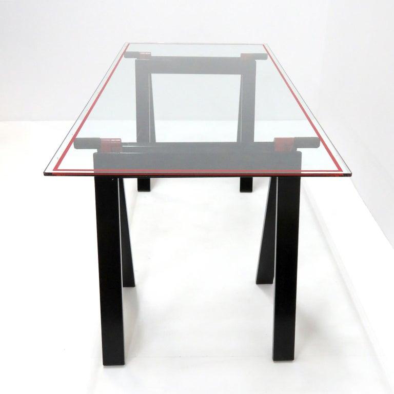 Powder-Coated Gaetano Table by Gae Aulenti for Zanotta, 1970 For Sale