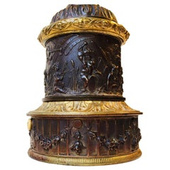Gagneau of Paris, Antique French Table Lamp in Bronze, 19th Century