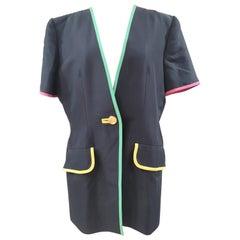 Gai Mattiolo blue short sleeves blazer