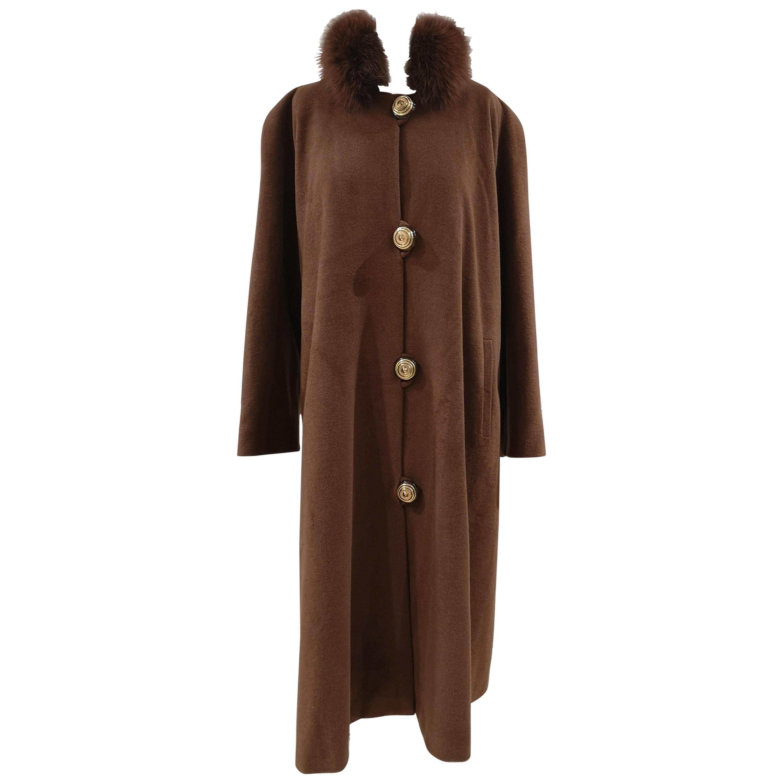 Gai Mattiolo brown wool cachemire coat