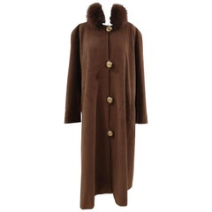 Gai Mattiolo brown wool cachemire coat