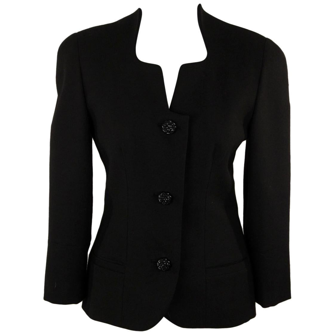 Gai Mattiolo Collarless Jacket with Lace Back Size 42
