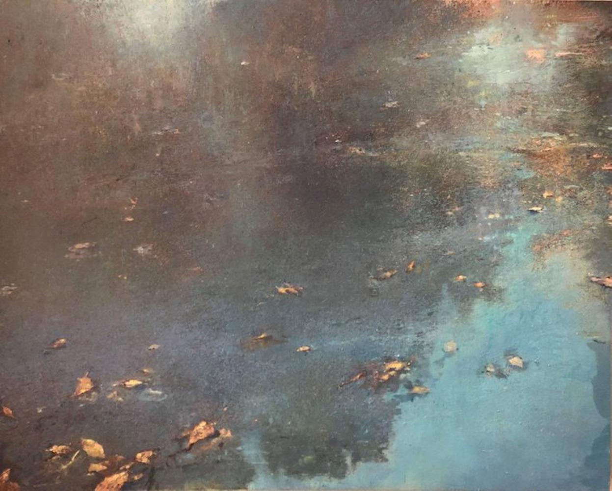 Blue Morning - natural abstract waterscape