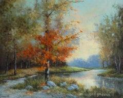 Glimpse of Twilight, Oil Painting