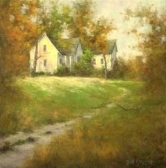 House on the Hill, Oil Painting