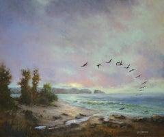 The Sunrise Patrol, Oil Painting