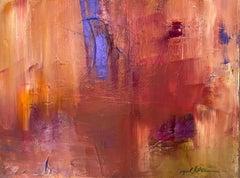 """""""Blue Line"""" Acrylic on canvas 23"""" x 29"""""""