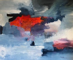 """""""Deep Red"""" acrylic on canvas by Gail 60"""" x 48"""""""
