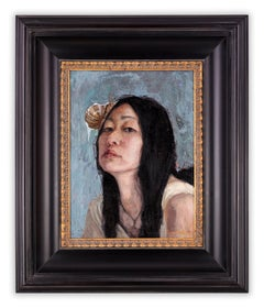 Seven Deadly Sins: Study for Sloth by Gail Potocki, Framed oil painting on linen
