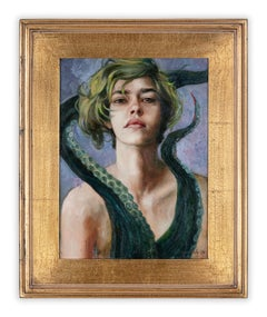 Seven Deadly Sins: Study for Lust by Gail Potocki, Framed oil painting on linen