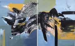Imagination (Diptych) - Large Scale Abstract Artwork