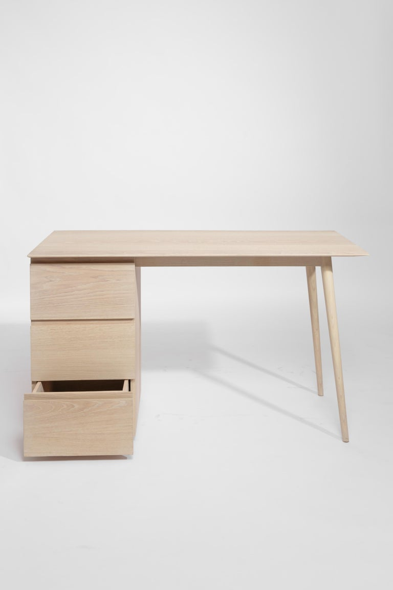 Wood Gala ash wood structure and veneer cover Desk  For Sale