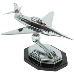 Gala Sonic Chrome Jet Airplane Desk Lighter