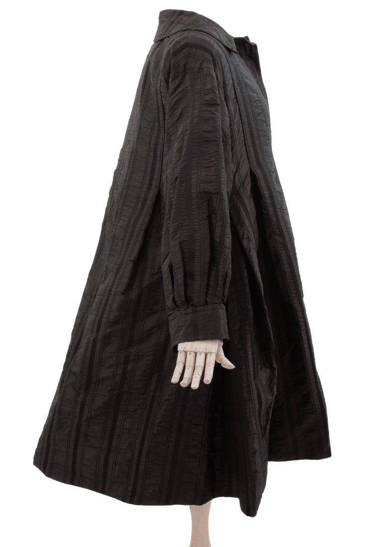 Galanos Neiman Marcus Vintage Black Striped Evening Wear Swing Coat  For Sale 1