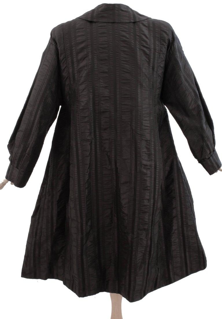 Galanos Neiman Marcus Vintage Black Striped Evening Wear Swing Coat  For Sale 2