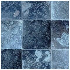 Galaxia Tile Print Wallpaper in Blue Moon Colorway