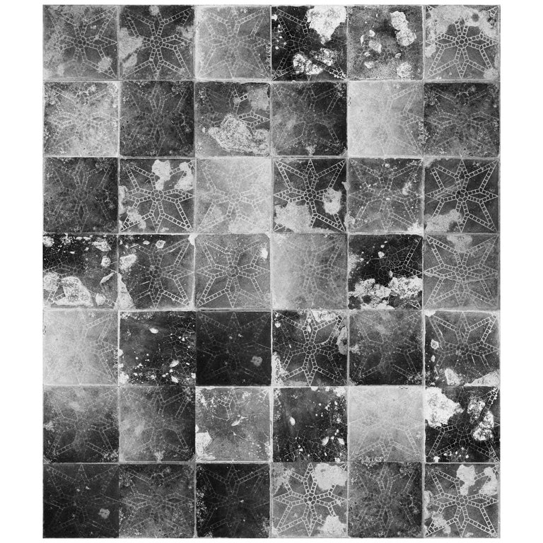 Galaxia Tile Print Wallpaper In Meteor Shower Colorway For