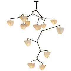 Galaxy 12 Porcelain Mobile Chandelier Handmade by Andrea Claire Studio