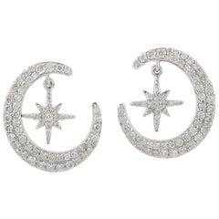 Galaxy Star 14 Karat Gold Diamond Earrings