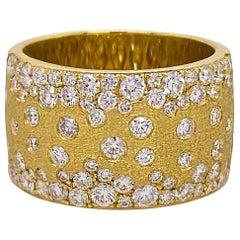 Galaxy Super Size Diamond Ring, 1.54 Carat, 77 Diamond Confetti Cigar Band